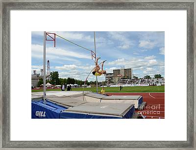 Womens Pole Vault 2 Framed Print by Bob Christopher
