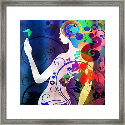 Wonder Framed Print by Angelina Vick