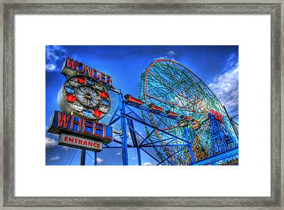 Wonder Wheel Framed Print by Bryan Hochman