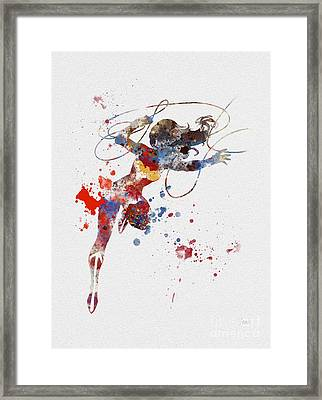 Wonder Woman Framed Print by Rebecca Jenkins