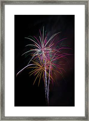 Wonderful Fireworks Framed Print by Garry Gay