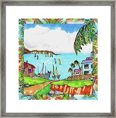 Wonderful Village Framed Print by Margaret Wingstedt