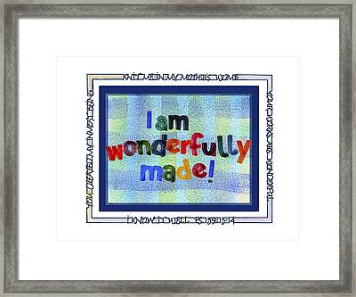Wonderfully Made Framed Print by Judy Dodds