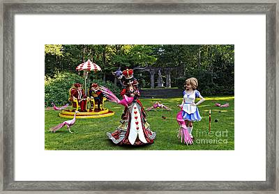 Wonderland Croquet Game Framed Print by Methune Hively