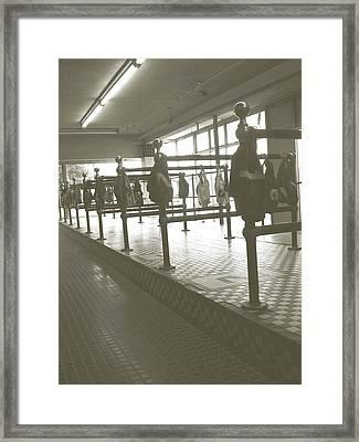 Wonderland Dog Track Framed Print by Heather Weikel