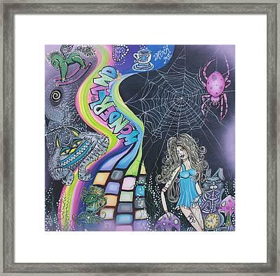 Wonderland Dreams Framed Print by Laura Barbosa