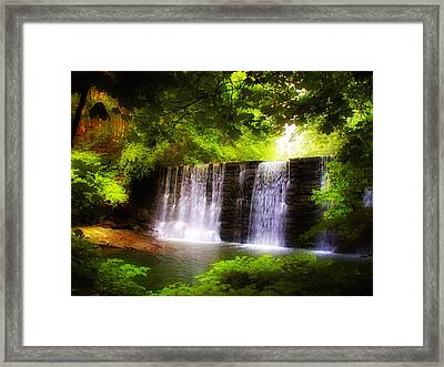 Wondrous Waterfall Framed Print by Bill Cannon