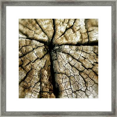 Wood Cross Framed Print by Tina Valvano