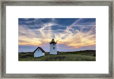 Wood End Light Framed Print by Bill Wakeley