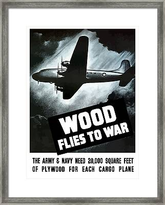 Wood Flies To War Framed Print by War Is Hell Store