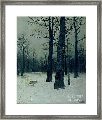 Wood In Winter Framed Print by Isaak Ilyic Levitan