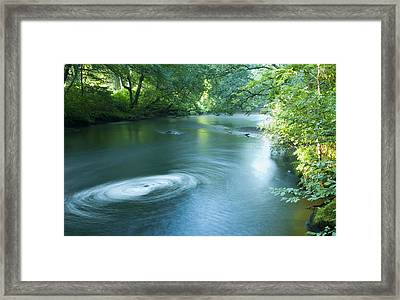 Wood River Whirlpool Framed Print by Steven Natanson