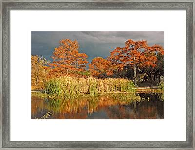 Woodcreek Crossing Framed Print by Robert Anschutz