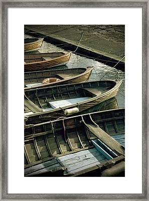 Wooden Boats Framed Print by Joana Kruse