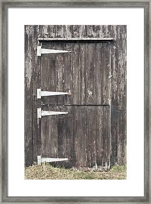 Wooden Cabin Door Framed Print by Tom Gowanlock
