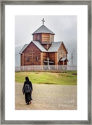 Wooden Church Framed Print by Svetlana Sewell