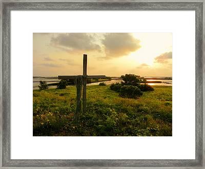 Wooden Cross 2 Framed Print by Sheri McLeroy