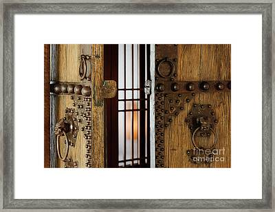 Wooden Door Framed Print by Jeremy Woodhouse