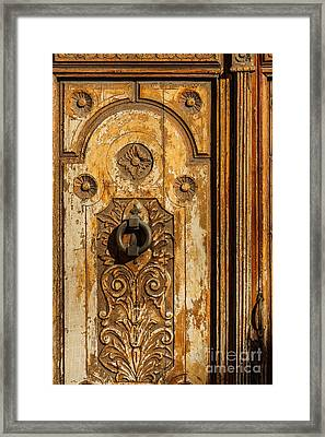 Wooden Door Framed Print by Lutz Baar