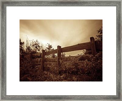 Wooden Fence Framed Print by Wim Lanclus