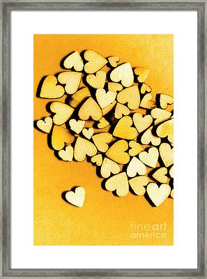 Wooden Hearts With Sentimental Single Framed Print by Jorgo Photography - Wall Art Gallery
