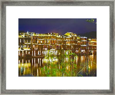 Wooden Houses 1 Framed Print by Lanjee Chee