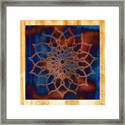 Wooden Mandala Framed Print by Hakon Soreide