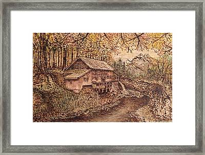 Wooden Solitude Framed Print by Laura Scheving