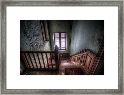 Wooden Stairs Framed Print by Nathan Wright