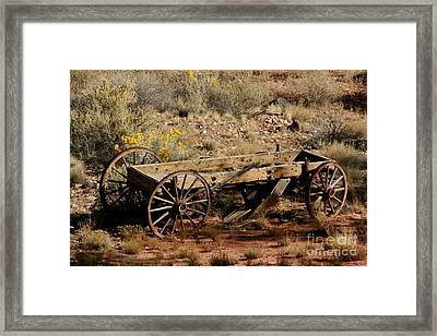 Wooden Wagon Framed Print by Robert  Torkomian