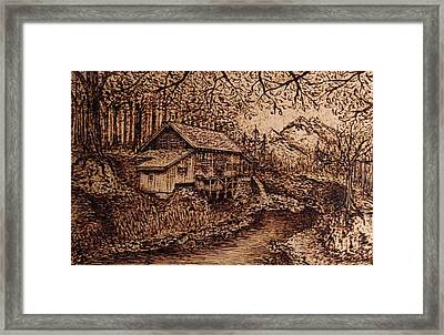 Wooden Wood Framed Print by Laura Scheving