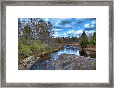 Woodhull Creek In May Framed Print by David Patterson