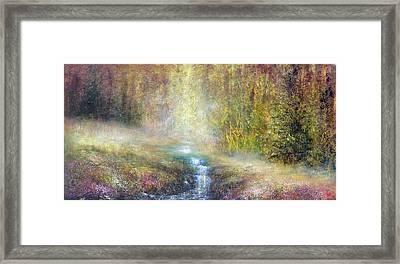 Woodland Falls Framed Print by Ann Marie Bone