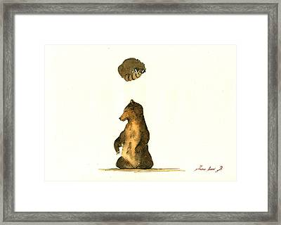 Woodland Letter I Framed Print by Juan  Bosco