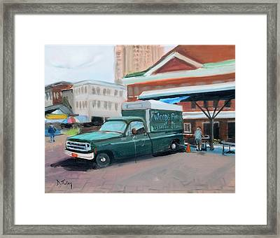 Woods Farms At Historic Roanoke City Market Framed Print by Donna Tuten