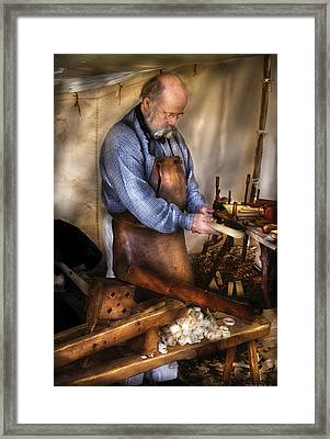 Woodworker - The Carpenter Framed Print by Mike Savad