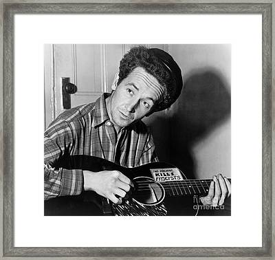 Woody Guthrie (1912-1967) Framed Print by Granger