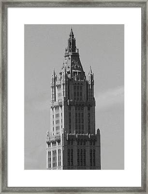 Woolworth Building Black And White Framed Print by Christopher Kirby