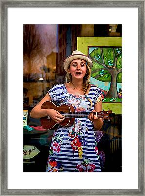 Woolworth Walk Buskers Framed Print by John Haldane