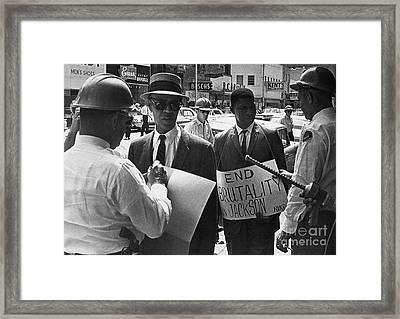 Woolworths Protest, 1963 Framed Print by Granger