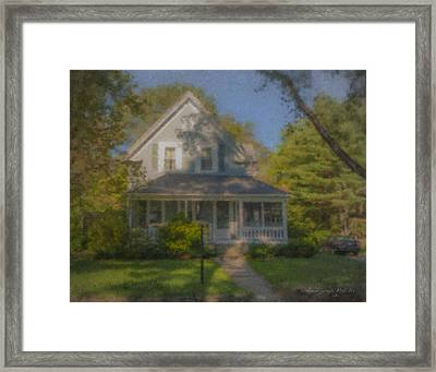 Wooster Family Home Framed Print by Bill McEntee