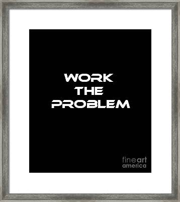 Work The Problem The Martian Tee Framed Print by Edward Fielding