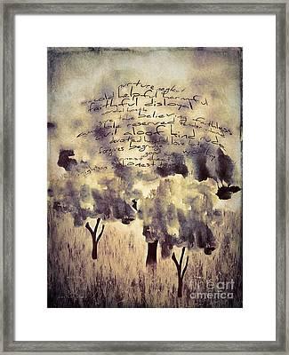 Words Matter Framed Print by Jean OKeeffe Macro Abundance Art