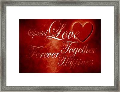 Words Of Love Framed Print by Phill Petrovic