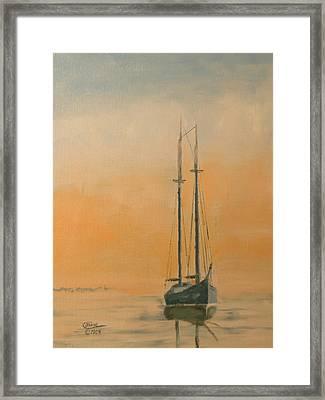 Work Boat At Rest Framed Print by Christopher Jenkins