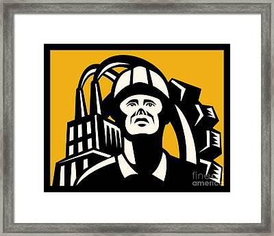 Worker Factory Building Framed Print by Aloysius Patrimonio