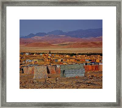 Worker Housing In Namibia Framed Print by Stacie Gary