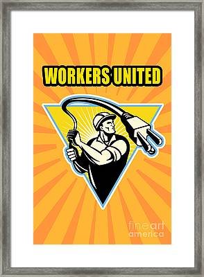 Worker United Framed Print by Aloysius Patrimonio