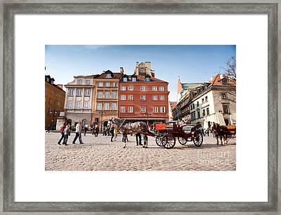 Working Horse Britzka Standing Framed Print by Arletta Cwalina