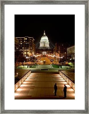 Working Late Framed Print by Todd Klassy